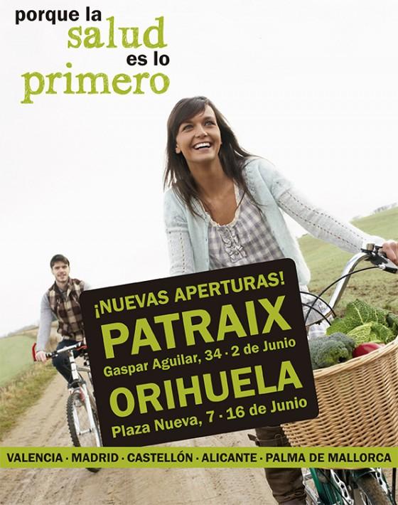 nuevas aperturas PATRAIX-ORIHUELA