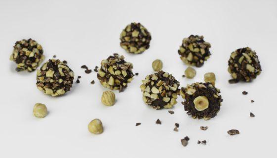 Bombones de cacao y avellanas