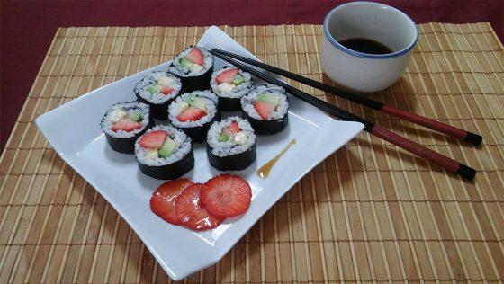 Maki Sushi dulce de frutas