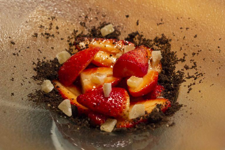 fresas, cítricos y chocolate