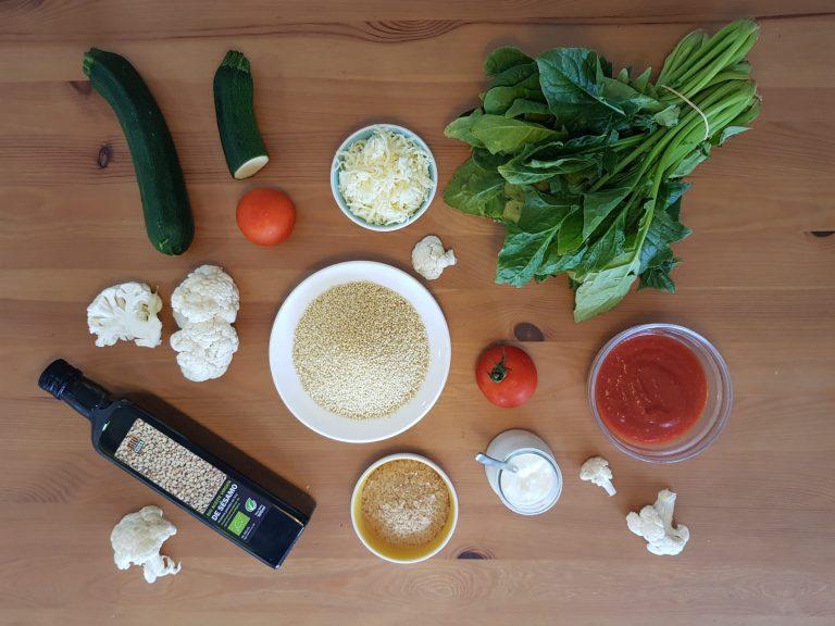 ingredientes para cocinar el pastel mijo