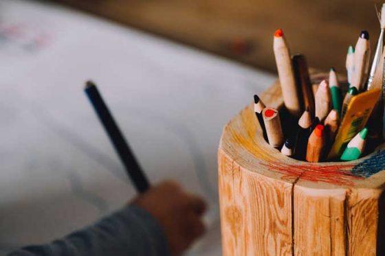 Bote de lápices de madera ecológico