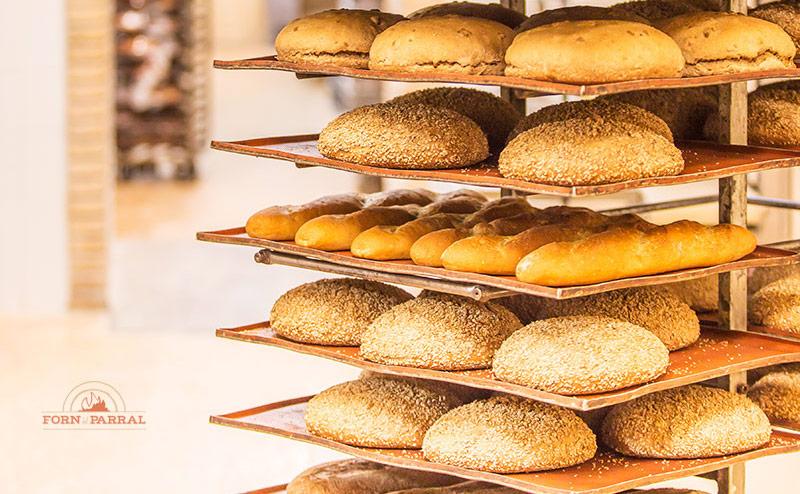 Variedad de panes de Forn del parral