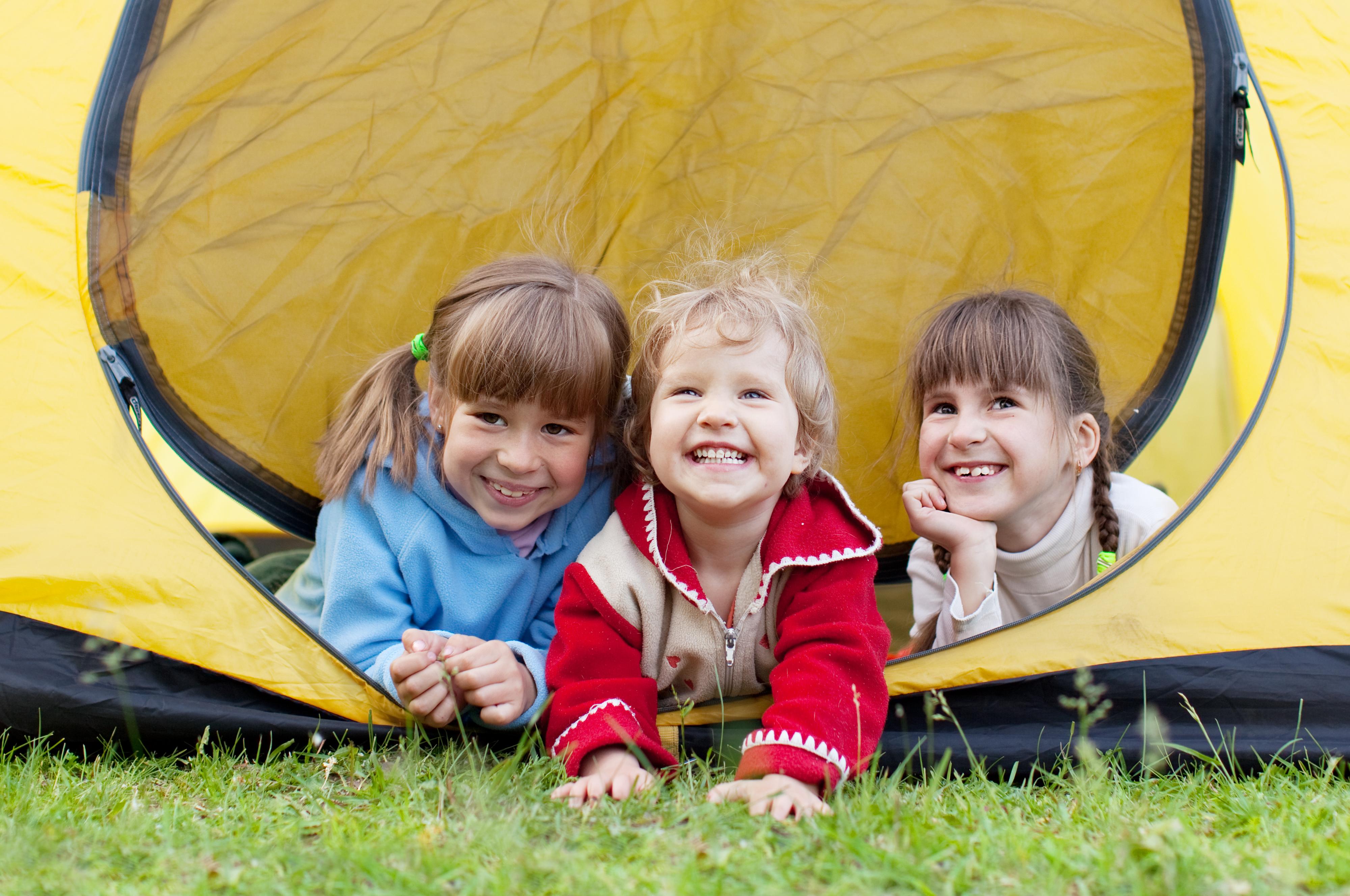 Niños de campamento