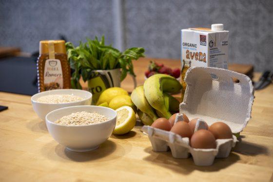 Ingredientes Tortitas avena y quinoa