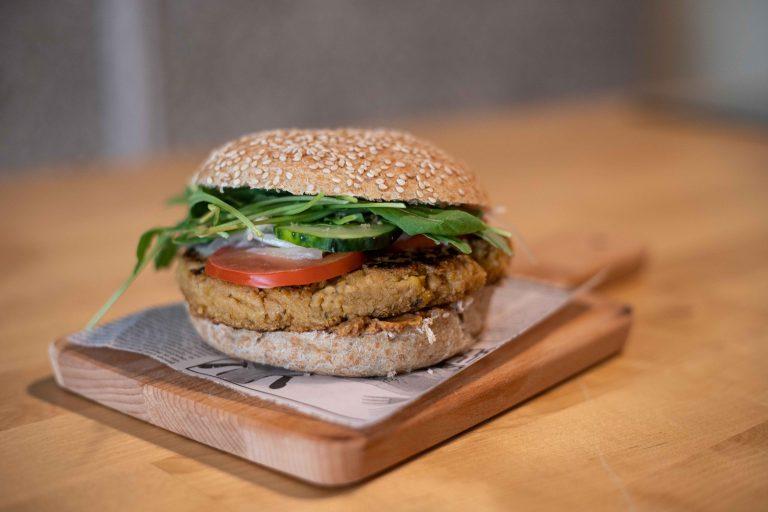Hamburguesa vegana ecológica