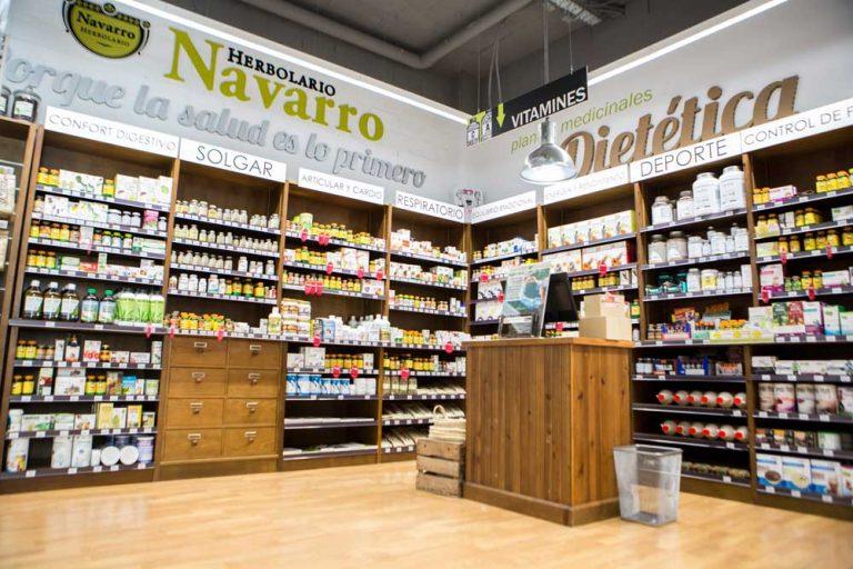 Sección dietética Herbolario Navarro