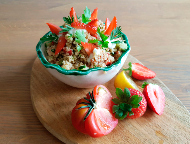 Receta de ensalada ibanesa con tabulé, perfecta para el verano