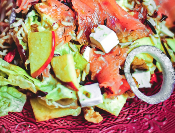 Receta saludable de ensalada de salmón